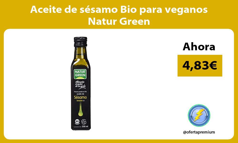 Aceite de sésamo Bio para veganos Natur Green