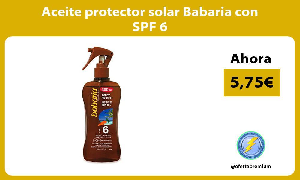 Aceite protector solar Babaria con SPF 6