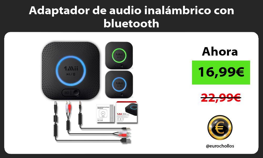 Adaptador de audio inalámbrico con bluetooth