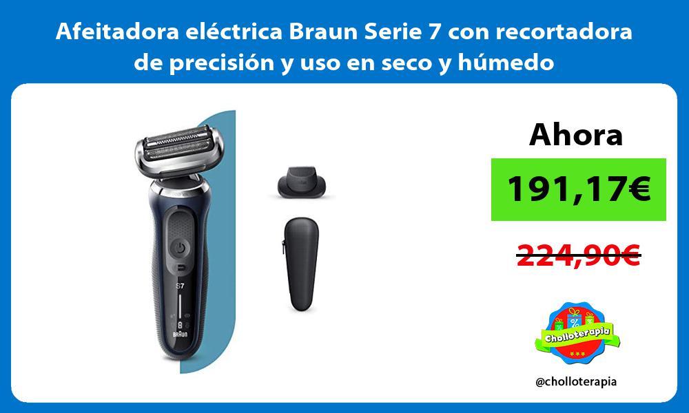 Afeitadora eléctrica Braun Serie 7 con recortadora de precisión y uso en seco y húmedo