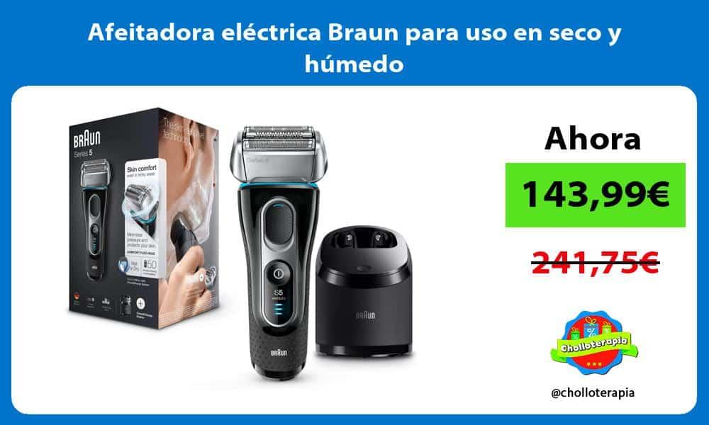 Afeitadora eléctrica Braun para uso en seco y húmedo