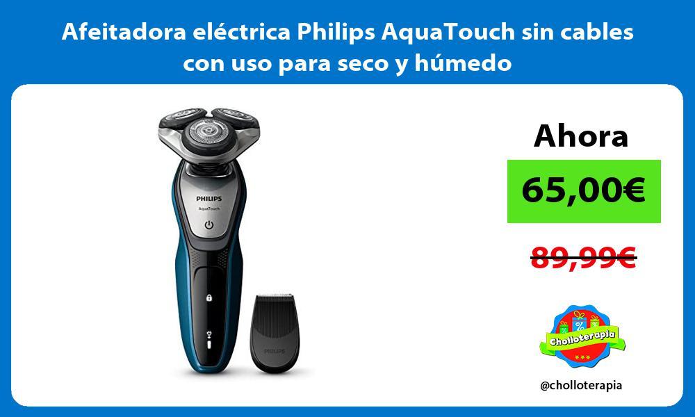 Afeitadora eléctrica Philips AquaTouch sin cables con uso para seco y húmedo