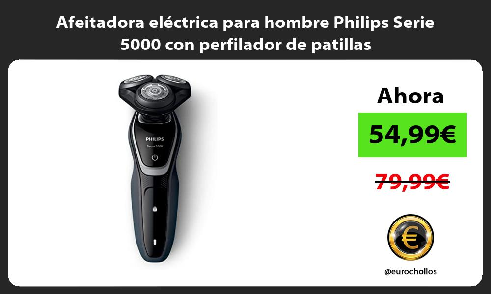 Afeitadora eléctrica para hombre Philips Serie 5000 con perfilador de patillas