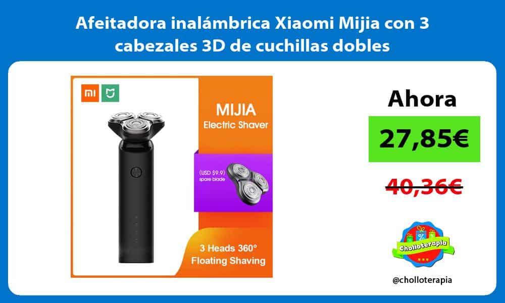 Afeitadora inalámbrica Xiaomi Mijia con 3 cabezales 3D de cuchillas dobles