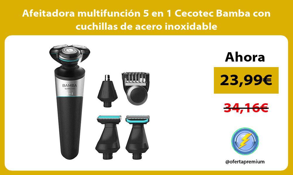 Afeitadora multifunción 5 en 1 Cecotec Bamba con cuchillas de acero inoxidable