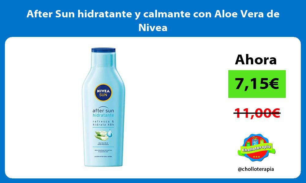 After Sun hidratante y calmante con Aloe Vera de Nivea