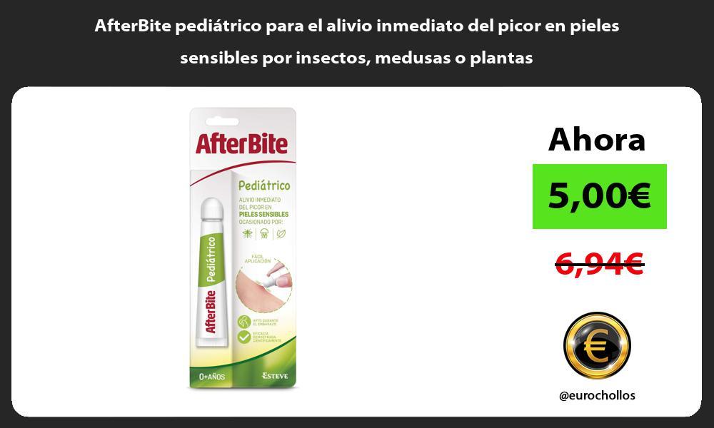 AfterBite pediátrico para el alivio inmediato del picor en pieles sensibles por insectos medusas o plantas