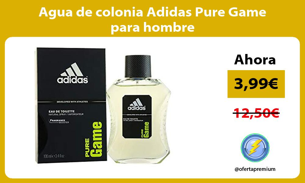 Agua de colonia Adidas Pure Game para hombre