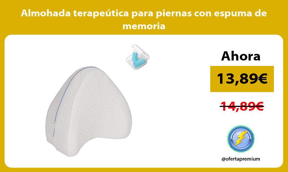 Almohada terapeútica para piernas con espuma de memoria