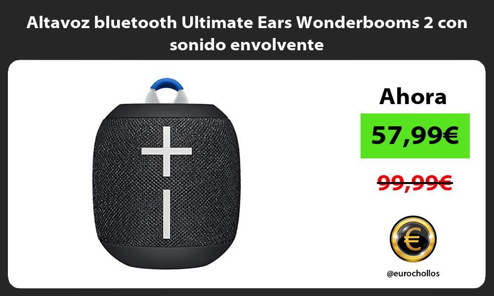 Altavoz bluetooth Ultimate Ears Wonderbooms 2 con sonido envolvente