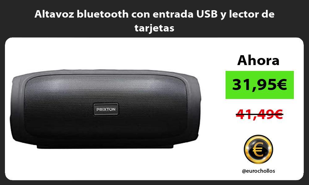 Altavoz bluetooth con entrada USB y lector de tarjetas
