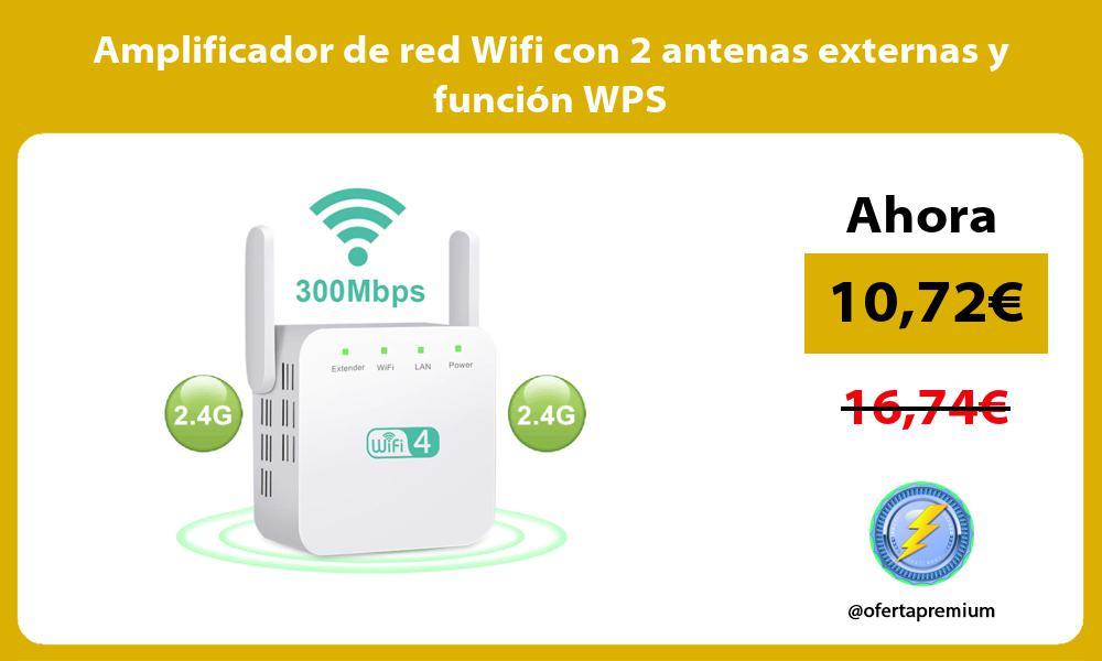 Amplificador de red Wifi con 2 antenas externas y función WPS
