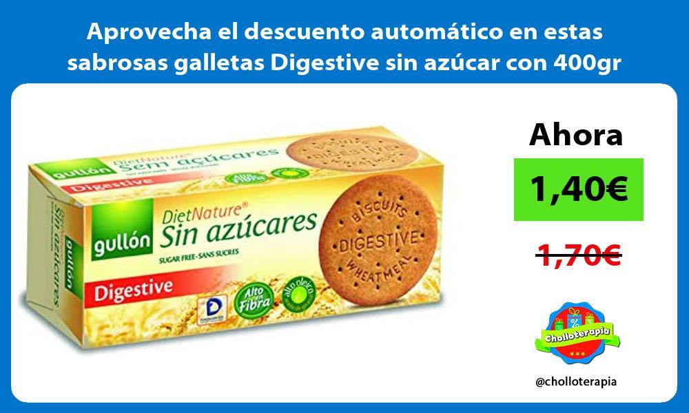 Aprovecha el descuento automático en estas sabrosas galletas Digestive sin azúcar con 400gr