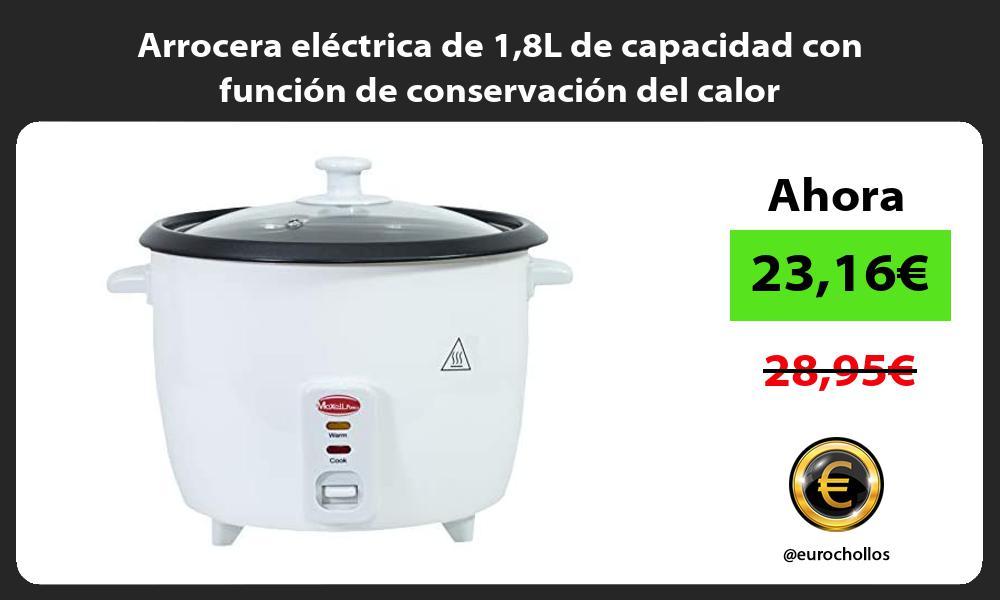 Arrocera eléctrica de 18L de capacidad con función de conservación del calor