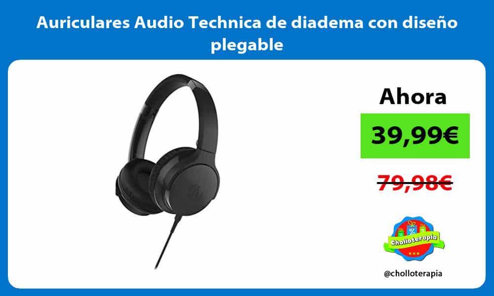 Auriculares Audio Technica de diadema con diseño plegable