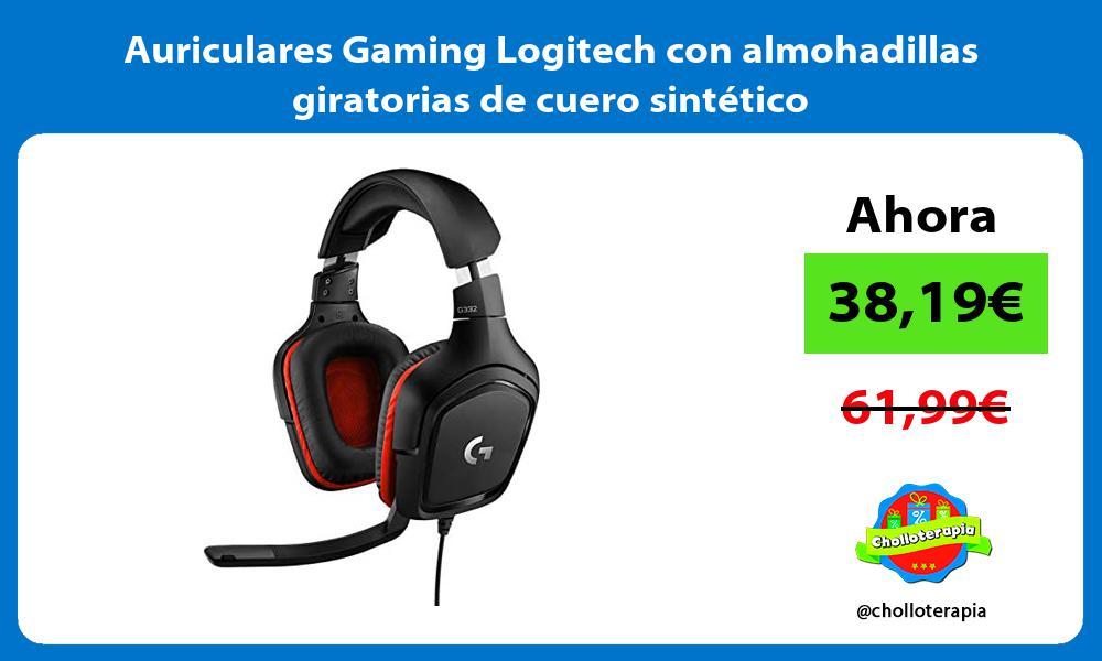 Auriculares Gaming Logitech con almohadillas giratorias de cuero sintético