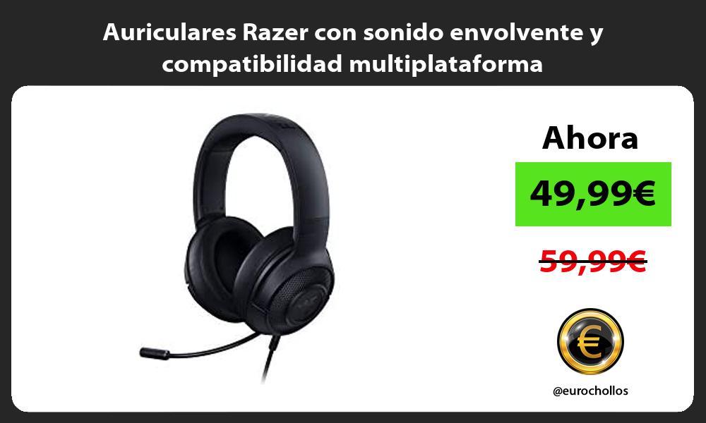 Auriculares Razer con sonido envolvente y compatibilidad multiplataforma