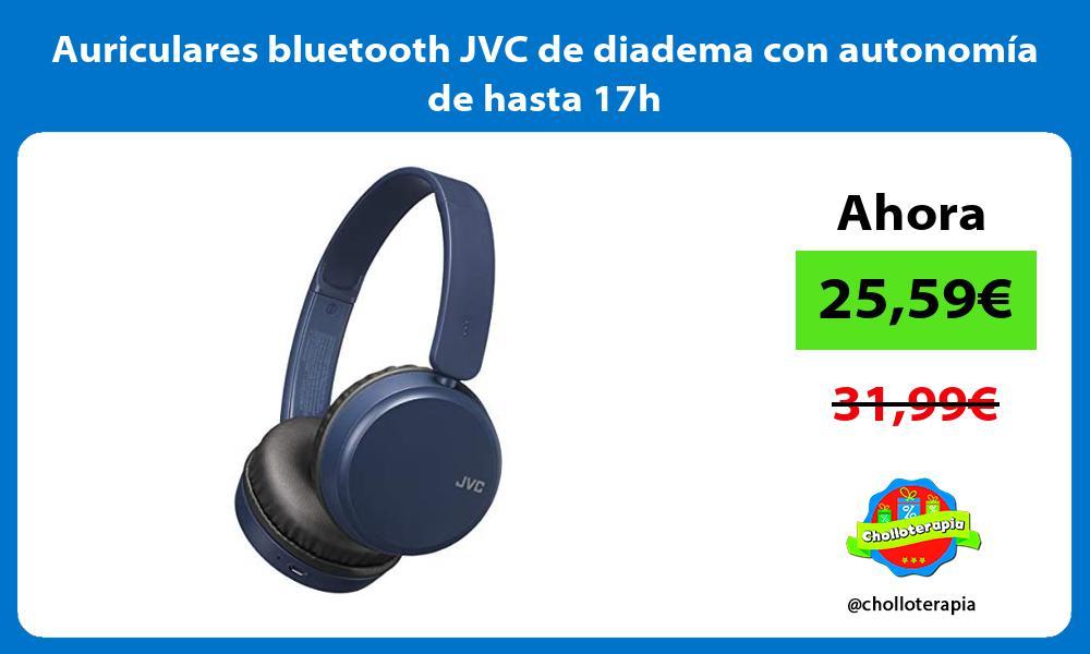 Auriculares bluetooth JVC de diadema con autonomía de hasta 17h