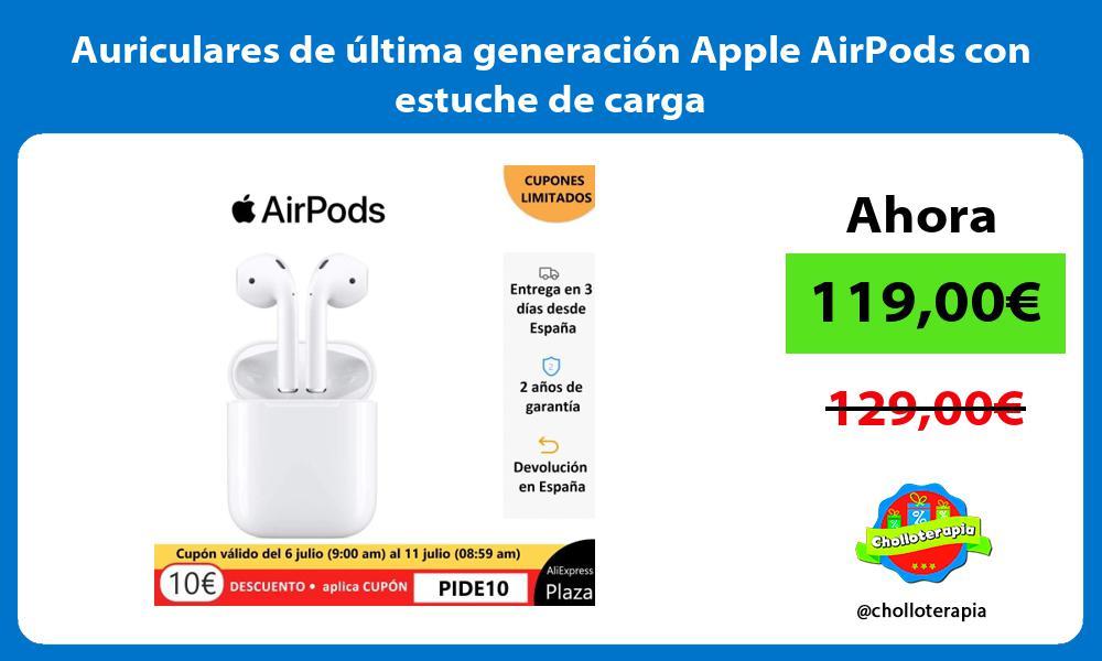 Auriculares de última generación Apple AirPods con estuche de carga