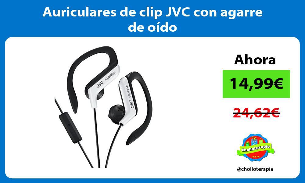 Auriculares de clip JVC con agarre de oído