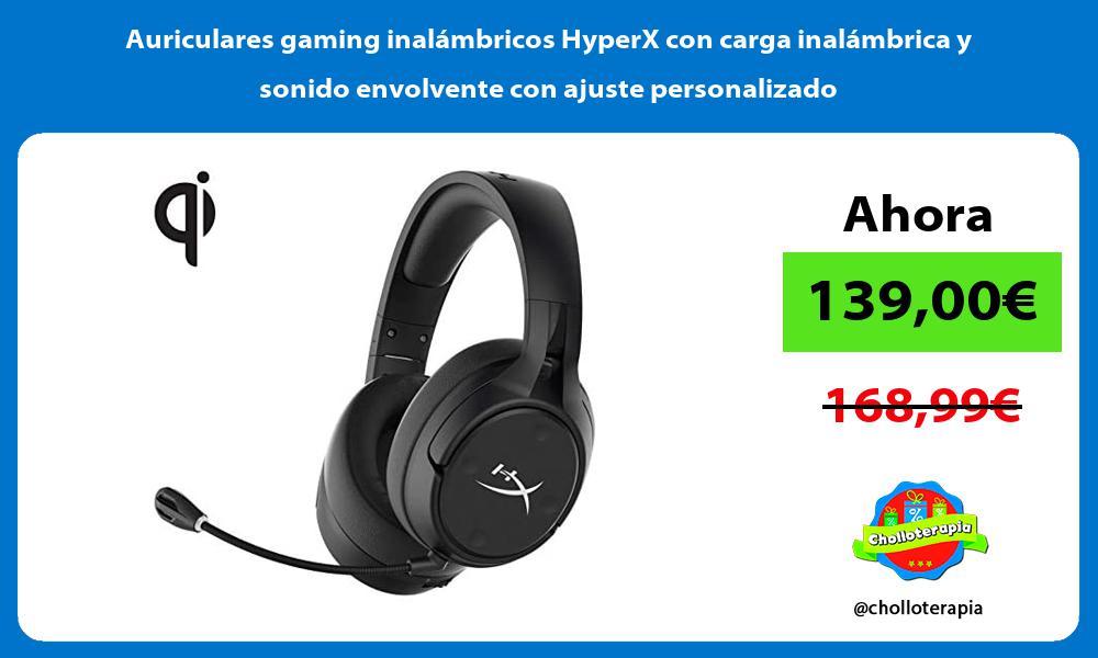 Auriculares gaming inalámbricos HyperX con carga inalámbrica y sonido envolvente con ajuste personalizado