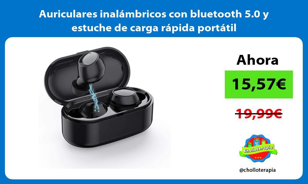 Auriculares inalámbricos con bluetooth 5 0 y estuche de carga rápida portátil
