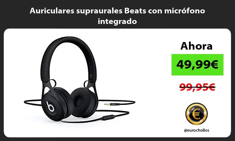 Auriculares supraurales Beats con micrófono integrado