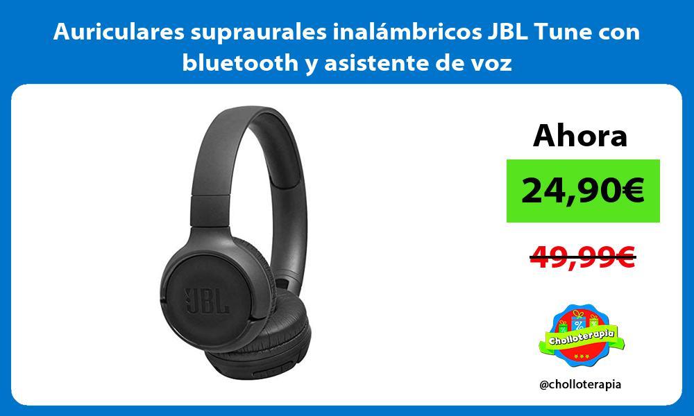 Auriculares supraurales inalámbricos JBL Tune con bluetooth y asistente de voz