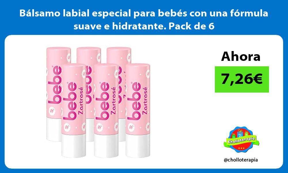 Bálsamo labial especial para bebés con una fórmula suave e hidratante Pack de 6