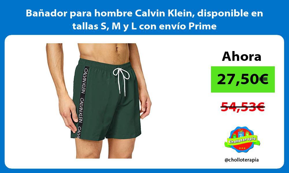 Bañador para hombre Calvin Klein disponible en tallas S M y L con envío Prime