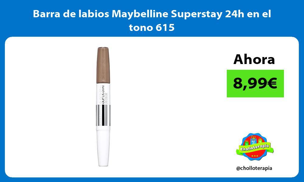 Barra de labios Maybelline Superstay 24h en el tono 615