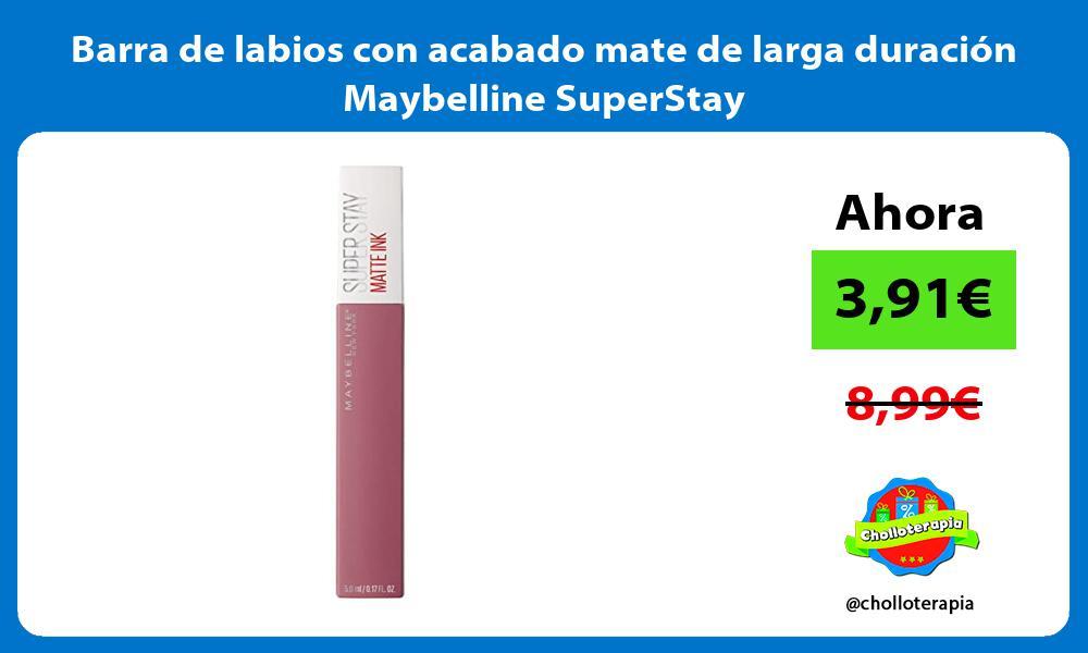 Barra de labios con acabado mate de larga duración Maybelline SuperStay