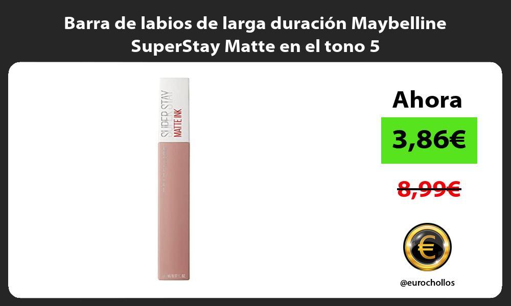 Barra de labios de larga duración Maybelline SuperStay Matte en el tono 5