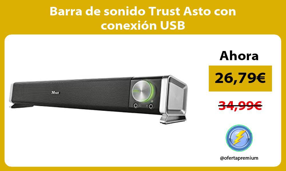 Barra de sonido Trust Asto con conexión USB