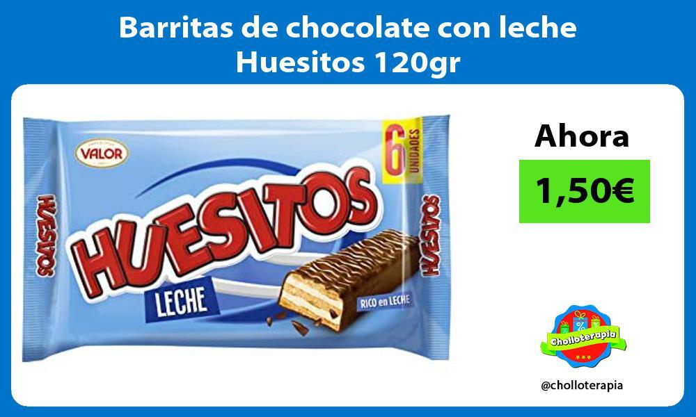 Barritas de chocolate con leche Huesitos 120gr