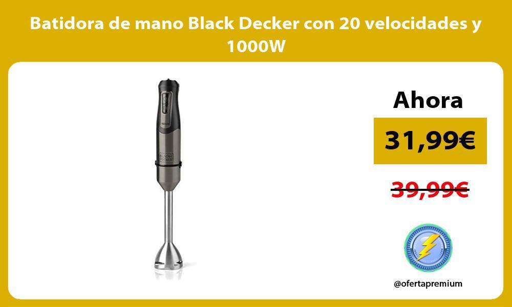 Batidora de mano Black Decker con 20 velocidades y 1000W