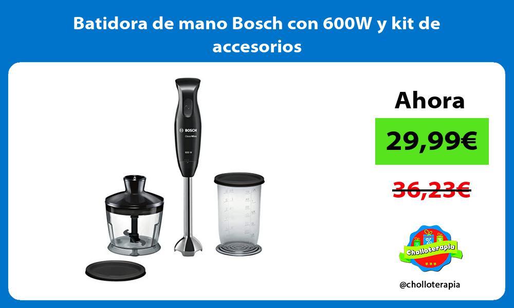 Batidora de mano Bosch con 600W y kit de accesorios