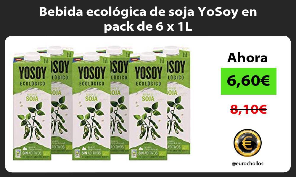 Bebida ecológica de soja YoSoy en pack de 6 x 1L