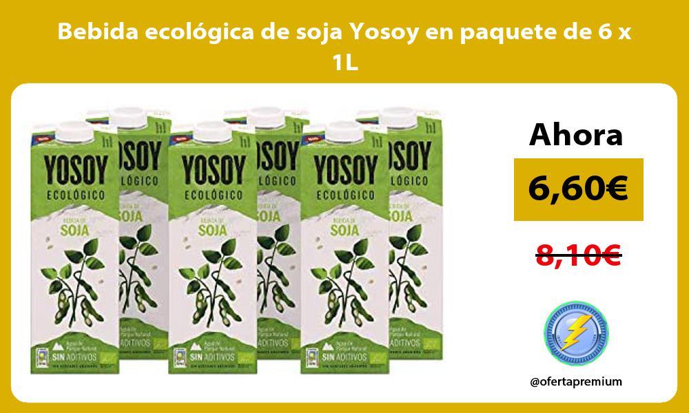 Bebida ecológica de soja Yosoy en paquete de 6 x 1L