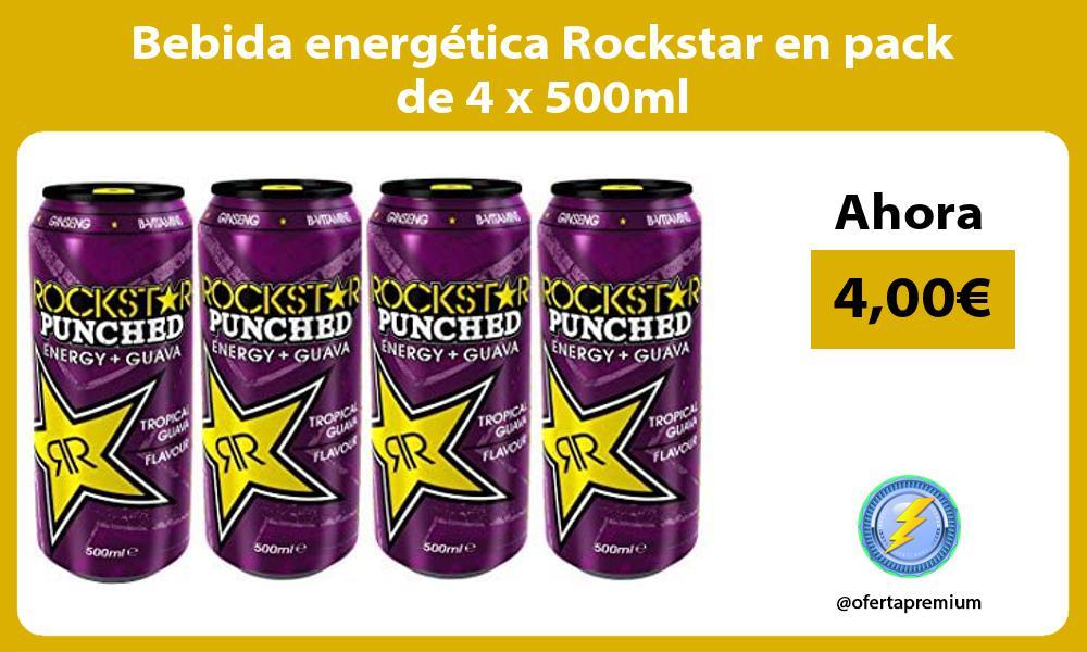 Bebida energética Rockstar en pack de 4 x 500ml