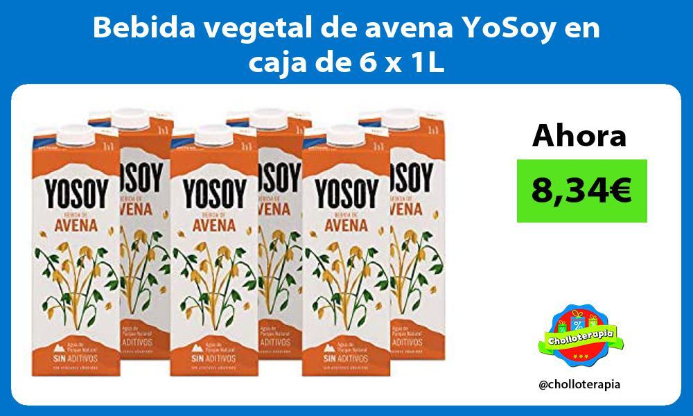 Bebida vegetal de avena YoSoy en caja de 6 x 1L