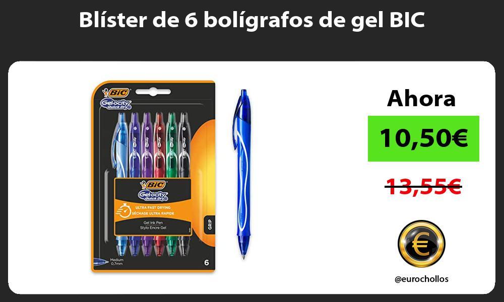 Blíster de 6 bolígrafos de gel BIC