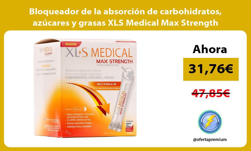 Bloqueador de la absorción de carbohidratos azúcares y grasas XLS Medical Max Strength