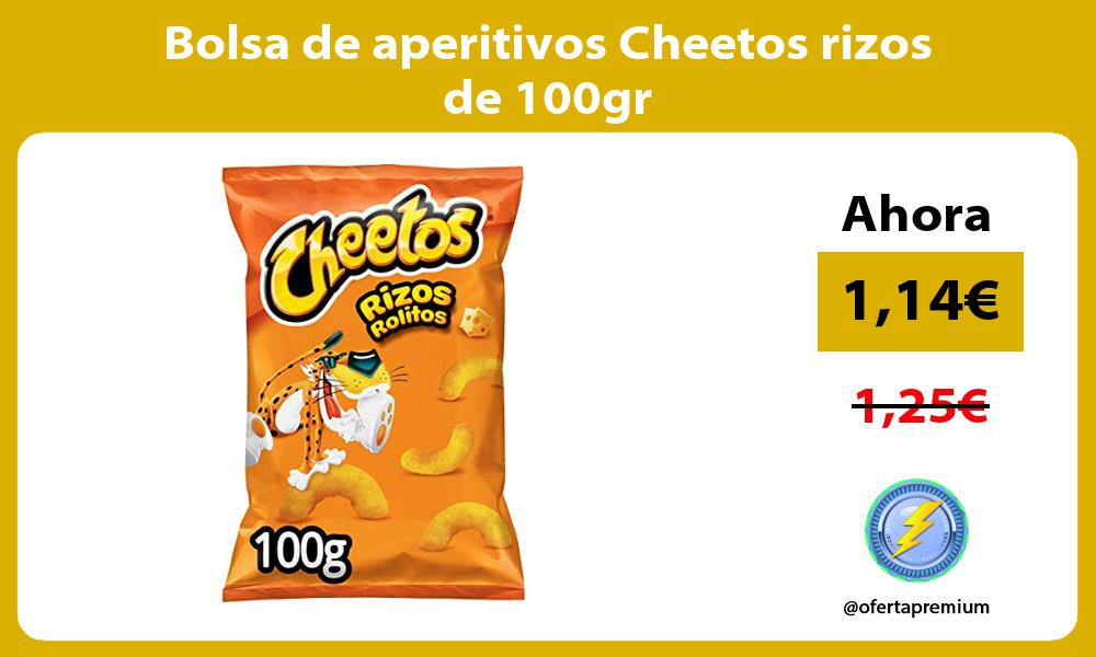 Bolsa de aperitivos Cheetos rizos de 100gr