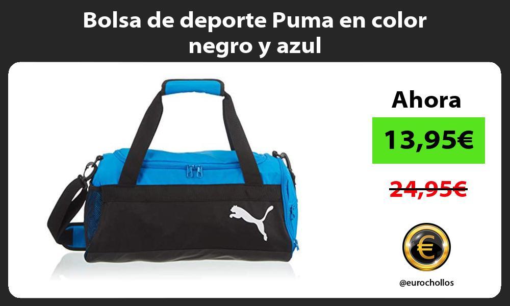 Bolsa de deporte Puma en color negro y azul