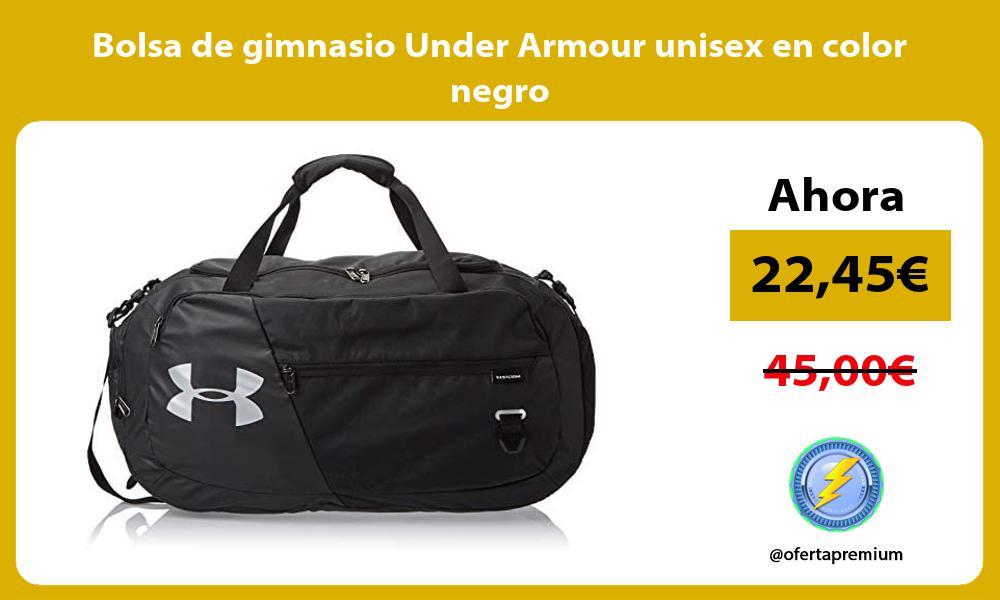 Bolsa de gimnasio Under Armour unisex en color negro