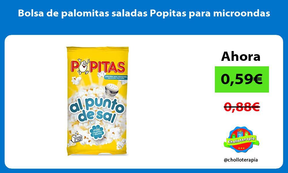 Bolsa de palomitas saladas Popitas para microondas