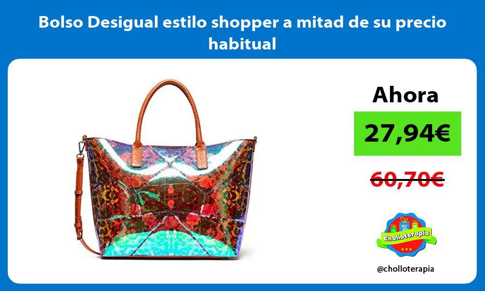 Bolso Desigual estilo shopper a mitad de su precio habitual