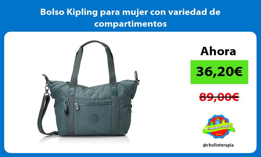 Bolso Kipling para mujer con variedad de compartimentos