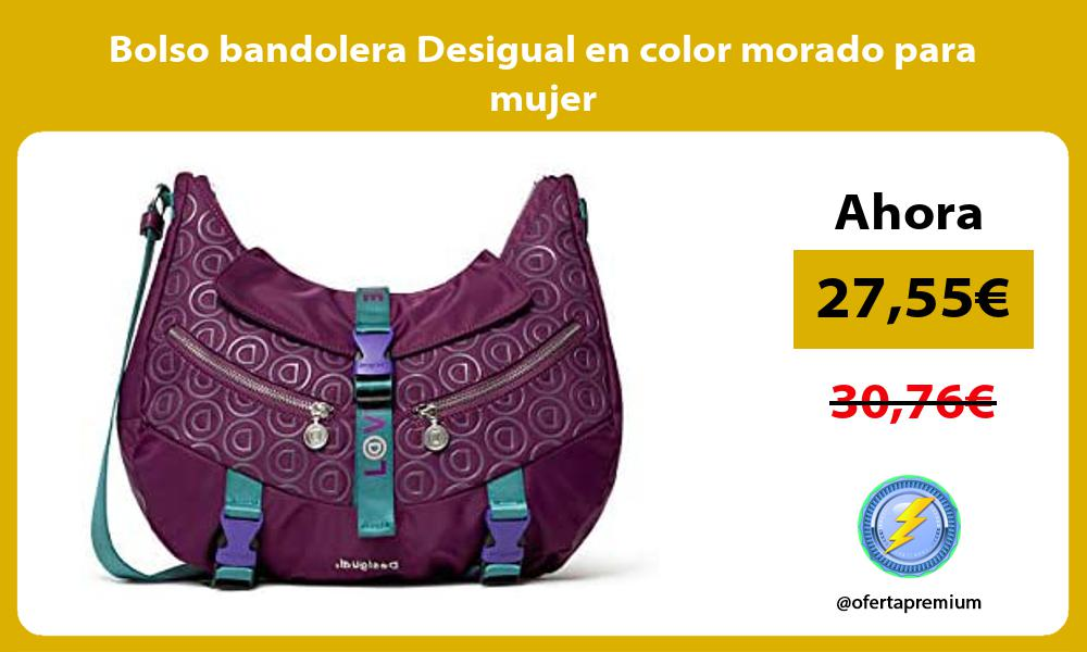 Bolso bandolera Desigual en color morado para mujer